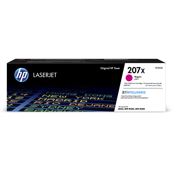 HP originál toner W2213X, magenta, 2450str., HP 207X, HP Color LaserJet Pro M255, MFP M282, M283, O