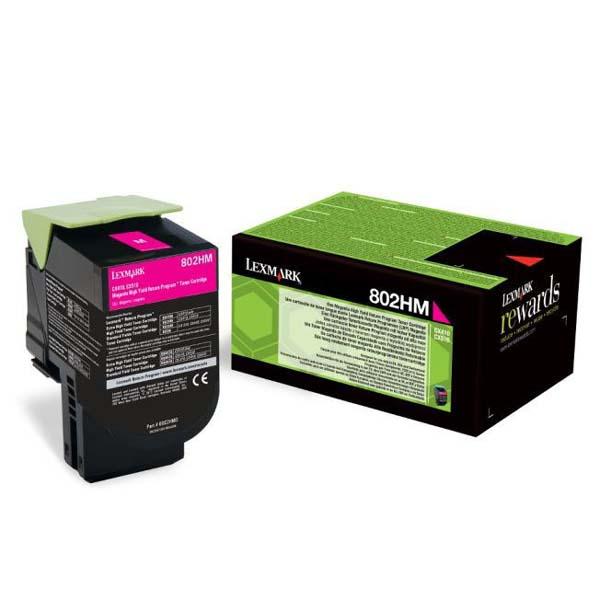 Lexmark originál toner 80C2HM0, magenta, 3000str., return, Lexmark CX410, 510, O