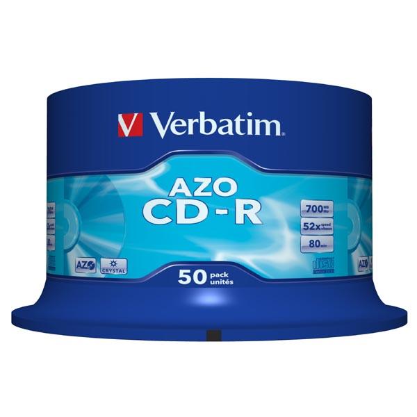 Verbatim CD-R, 43343, DataLife PLUS, 50-pack, 700MB, Super Azo, 52x, 80min., 12cm, Crystal, bez možnosti potlače, cake box, Standa