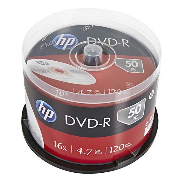 HP DVD-R, DME00025-3, 50-pack, 4.7GB, 16x, 12cm, cake box, bez možnosti potlače, pre archiváciu dát