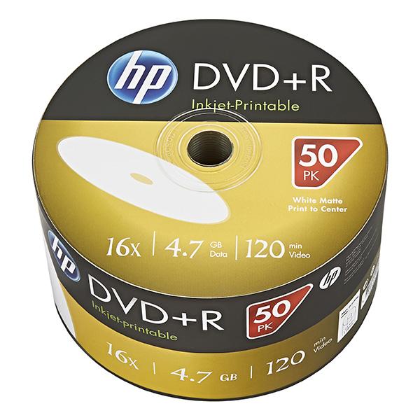 HP DVD+R, DRE00070WIP-3, 50-pack, 4.7GB, 16x, 12cm, bulk, Printable, pre archiváciu dát