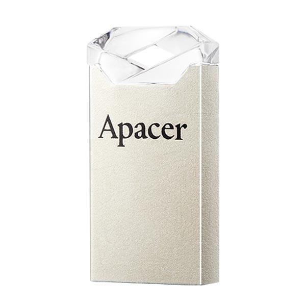 Apacer USB flash disk, USB 2.0, 16GB, AH111, strieborný, AP16GAH111CR-1, USB A