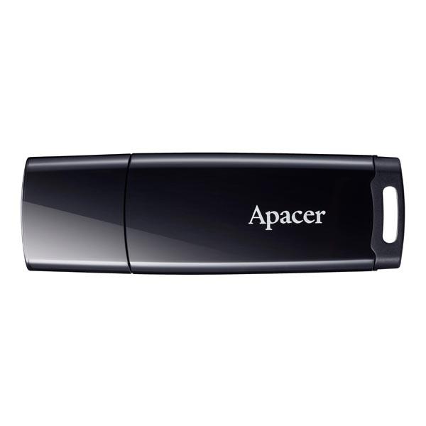 Apacer USB flash disk, USB 2.0, 16GB, AH336, čierny, AP16GAH336B-1, USB A, s krytkou
