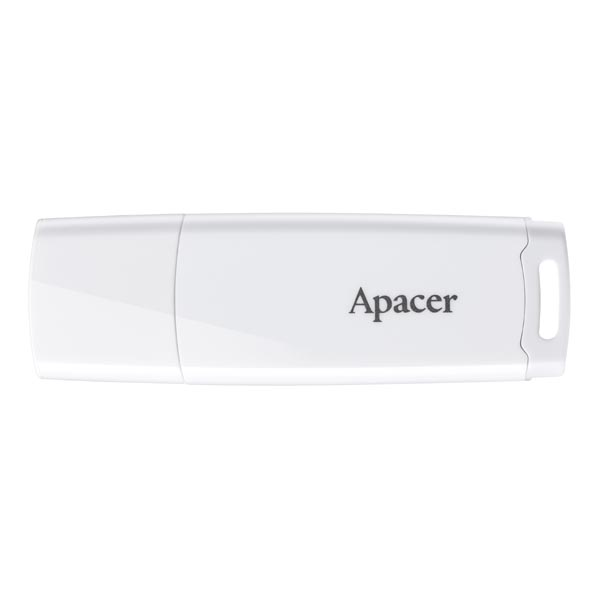 Apacer USB flash disk, USB 2.0, 16GB, AH336, biely, AP16GAH336W-1, USB A, s krytkou