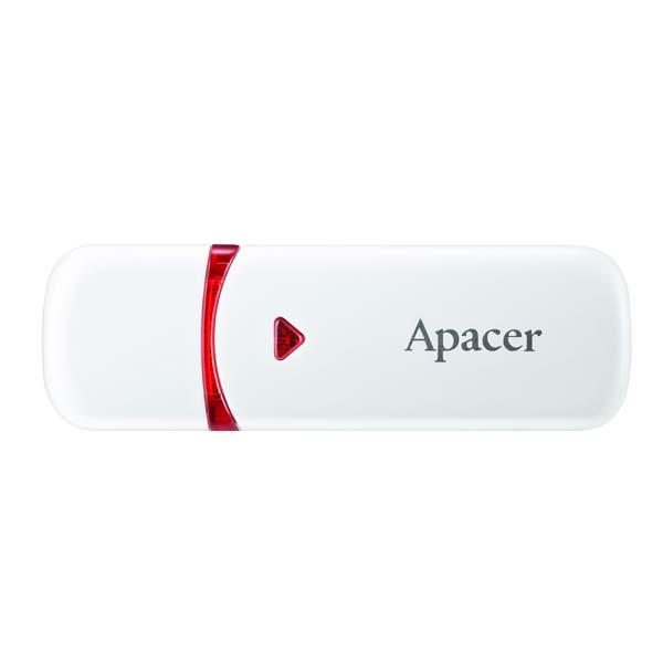 Apacer USB flash disk, USB 2.0, 16GB, AH333, biely, AP16GAH333W-1, USB A, s krytkou