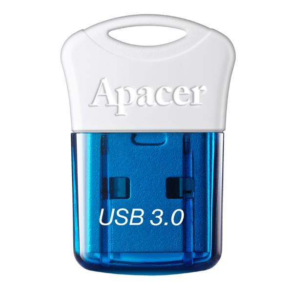 Apacer USB flash disk, USB 3.0 (3.2 Gen 1), 32GB, AH157, modrý, AP32GAH157U-1, USB A, s krytkou