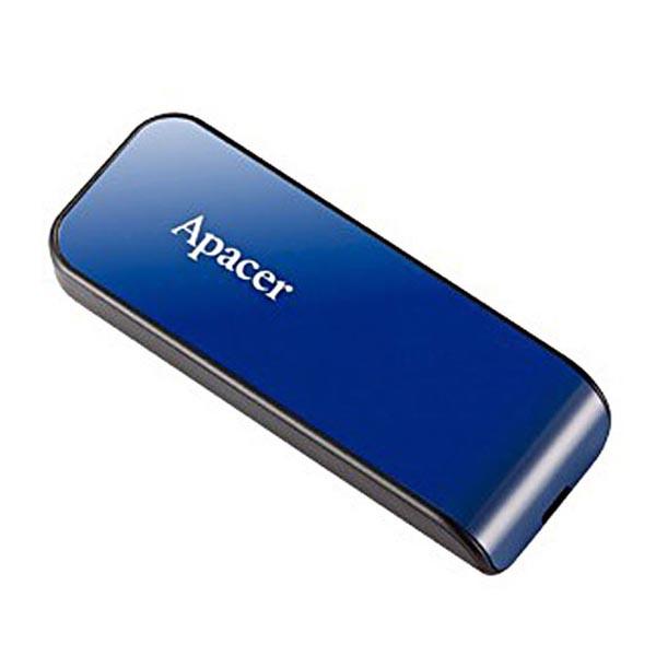 Apacer USB flash disk, USB 2.0, 32GB, AH334, modrý, AP32GAH334U-1, USB A, s výsuvným konektorom