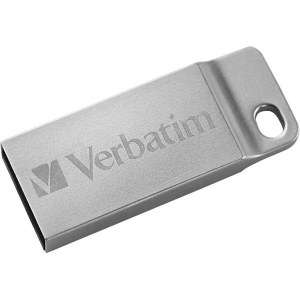Verbatim USB flash disk, USB 2.0, 32GB, Metal Executive, Store N Go, strieborný, 98749, USB A, s pútkom