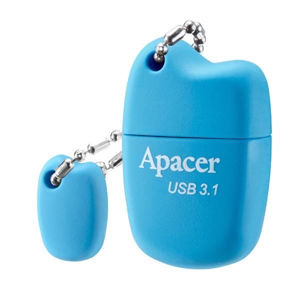 Apacer USB flash disk, USB 3.0 (3.2 Gen 1), 64GB, AH159, modrý, AP64GAH159U-1, USB A, s krytkou
