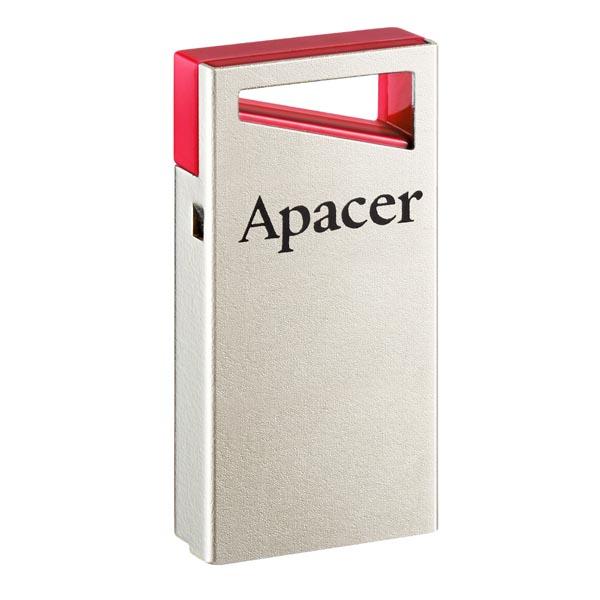 Apacer USB flash disk, USB 2.0, 64GB, AH112, strieborný, AP64GAH112R-1, USB A, s pútkom