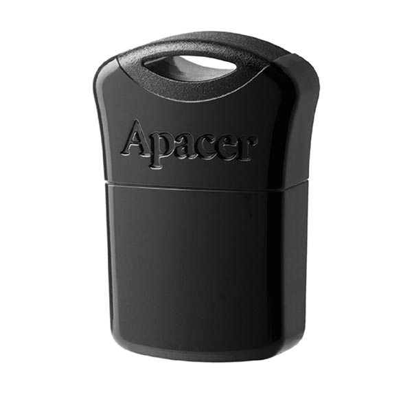 Apacer USB flash disk, USB 2.0, 64GB, AH116, čierny, AP64GAH116B-1, USB A, s krytkou