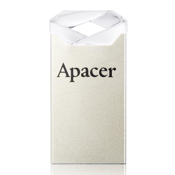 Apacer USB flash disk, USB 2.0, 64GB, AH111, strieborný, AP64GAH111CR-1, USB A, s pútkom