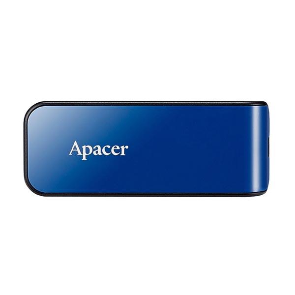 Apacer USB flash disk, USB 2.0, 64GB, AH334, modrý, AP64GAH334U-1, USB A, s výsuvným konektorom