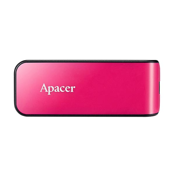 Apacer USB flash disk, USB 2.0, 64GB, AH334, ružový, AP64GAH334P-1, USB A, s výsuvným konektorom