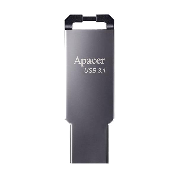 Apacer USB flash disk, USB 3.0 (3.2 Gen 1), 64GB, AH360, strieborný, AP64GAH360A-1, s pútkom