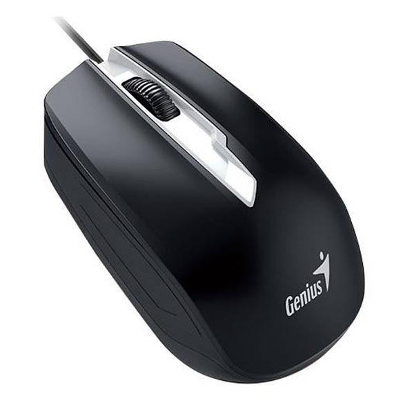 Genius Myš DX-180, 1000DPI, optická, 3tl., 1 koliesko, drôtová USB, čierna