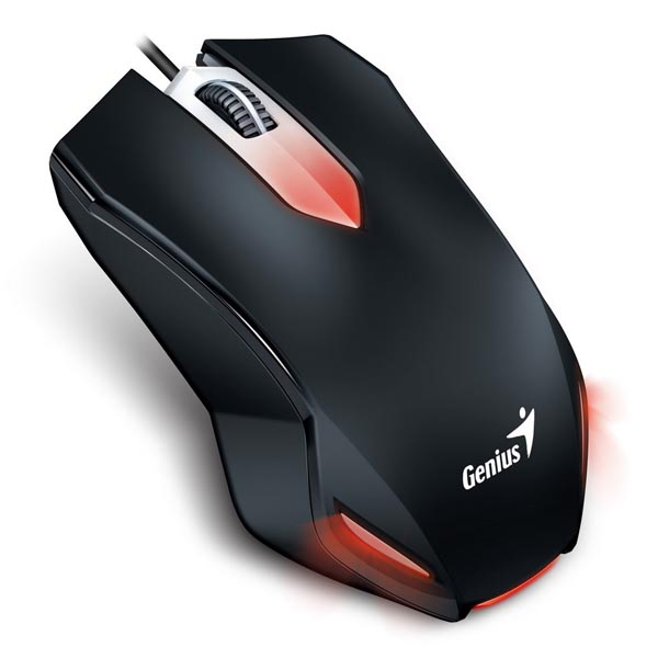 Genius Myš Gaming X-G200, 1000DPI, optická, 3tl., 1 koliesko, drôtová USB, čierna