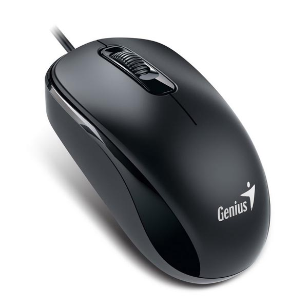 Genius Myš DX-110, 1000DPI, optická, 3tl., 1 koliesko, drôtová USB, čierna