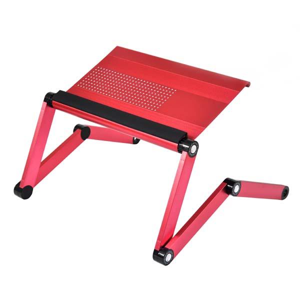 Podstavec pod notebook, s možnosťou rotácie o 360°, ružový, hliník-plast, 10 kg nosnosť