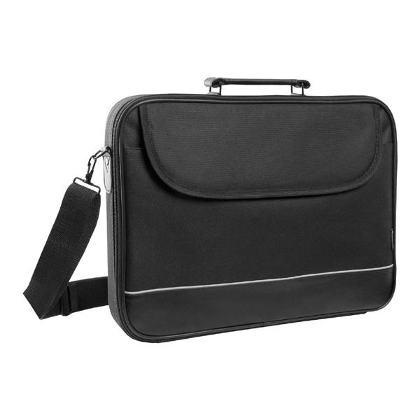 "Taška na notebook 16"", Ascetic, čierna z polyesteru, Defender"