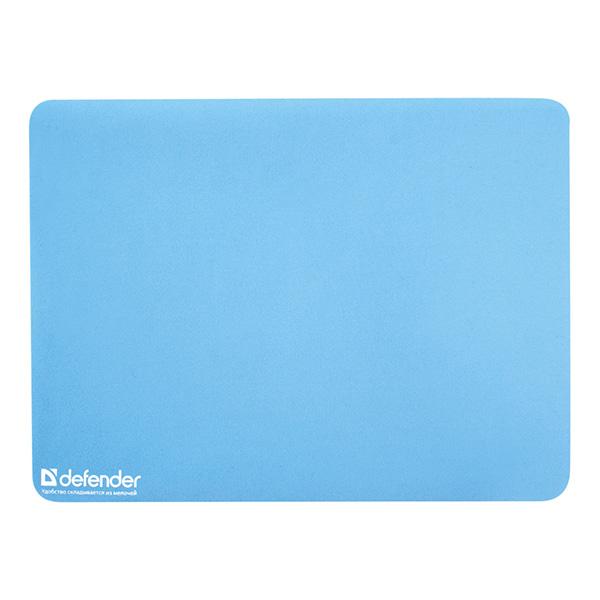 Podložka pod myš, styren butadienový kaučuk, modrá, 30x22.5cm, 1.2mm, Defender, útierka z mikrovlánka