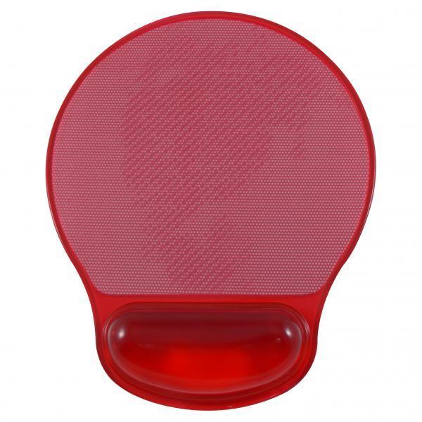 Podložka pod myš, ergonomická, gélová, červená, Logo, možnosť vložiť foto