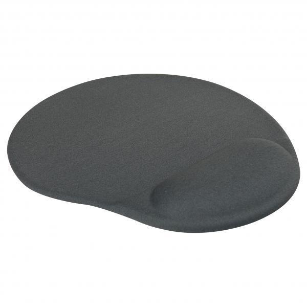 Podložka pod myš, ergonomická, gélová, šedá, Logo