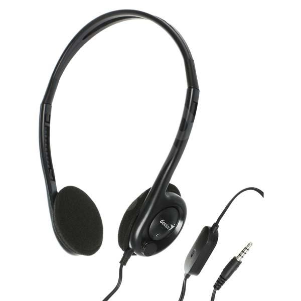 848c0f2b9 Genius HS-200C, slúchadlá s mikrofónom, bez ovládania hlasitosti, čierna, 2x
