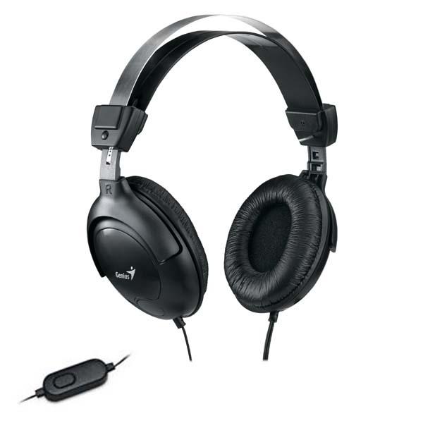 Genius HS-M505X, slúchadlá s mikrofónom, čierna, 3.5 mm jack