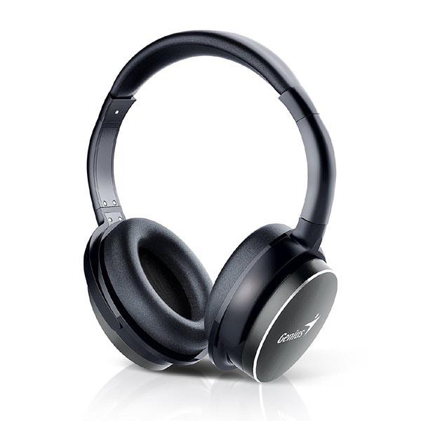 Genius HS-940BT, slúchadlá s mikrofónom, ovládanie hlasitosti, čierna, bluetooth