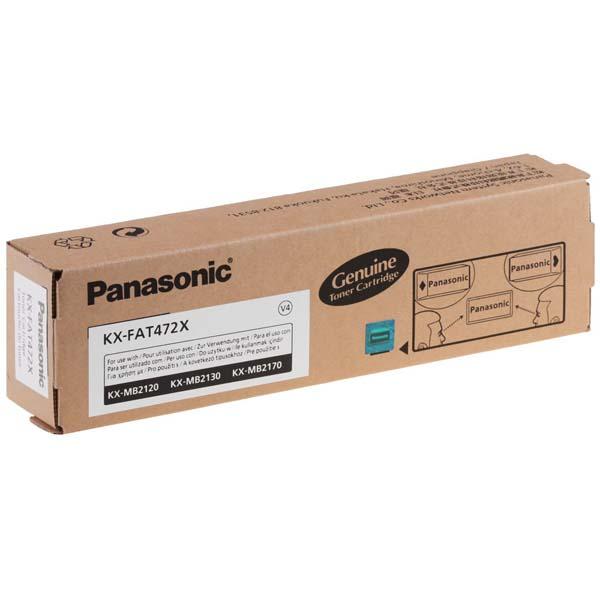 Panasonic originál toner KX-FAT472X, black, 2000str., Panasonic KX-MB2120, KX-MB2130, KX-MB2170, O