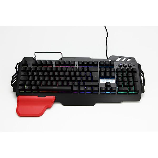 RED FIGHTER K2, Klávesnica CZ/SK, herná, podsvietená typ drôtová (USB), čierna, výmenná područka, stojane na mobil