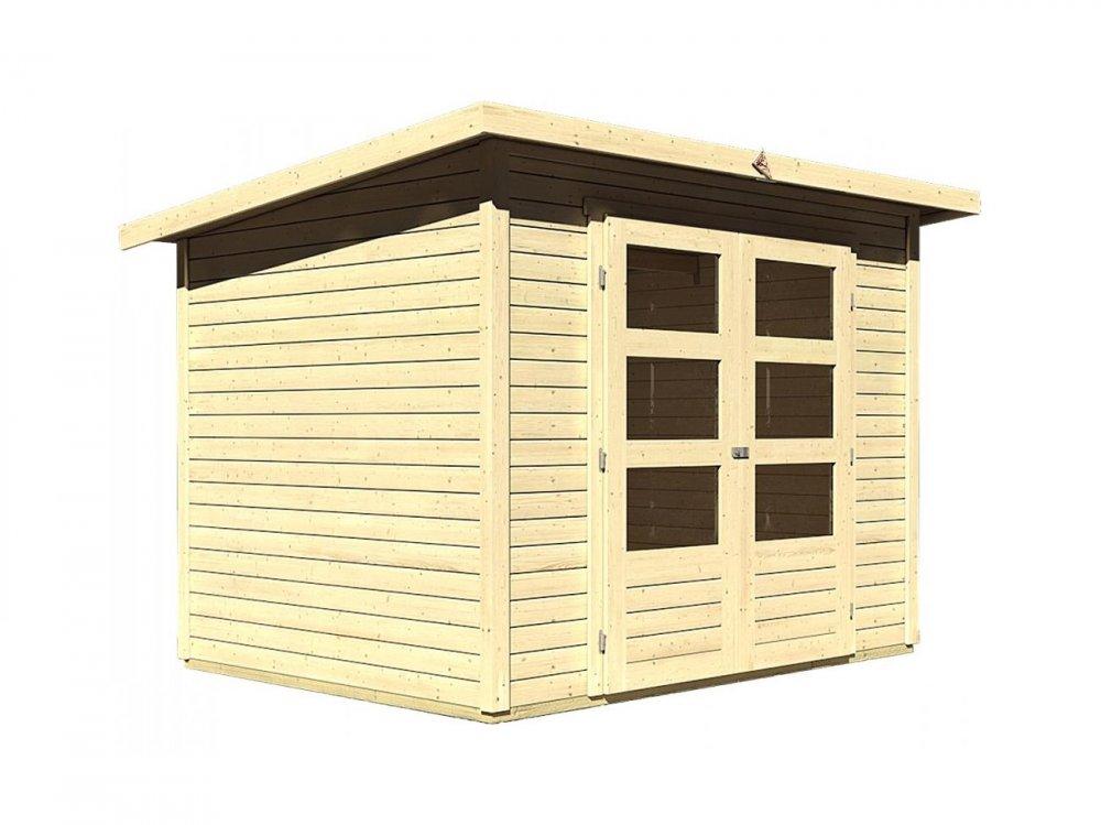 drevený domček KARIBU STOCKACH 3 (82978) natur