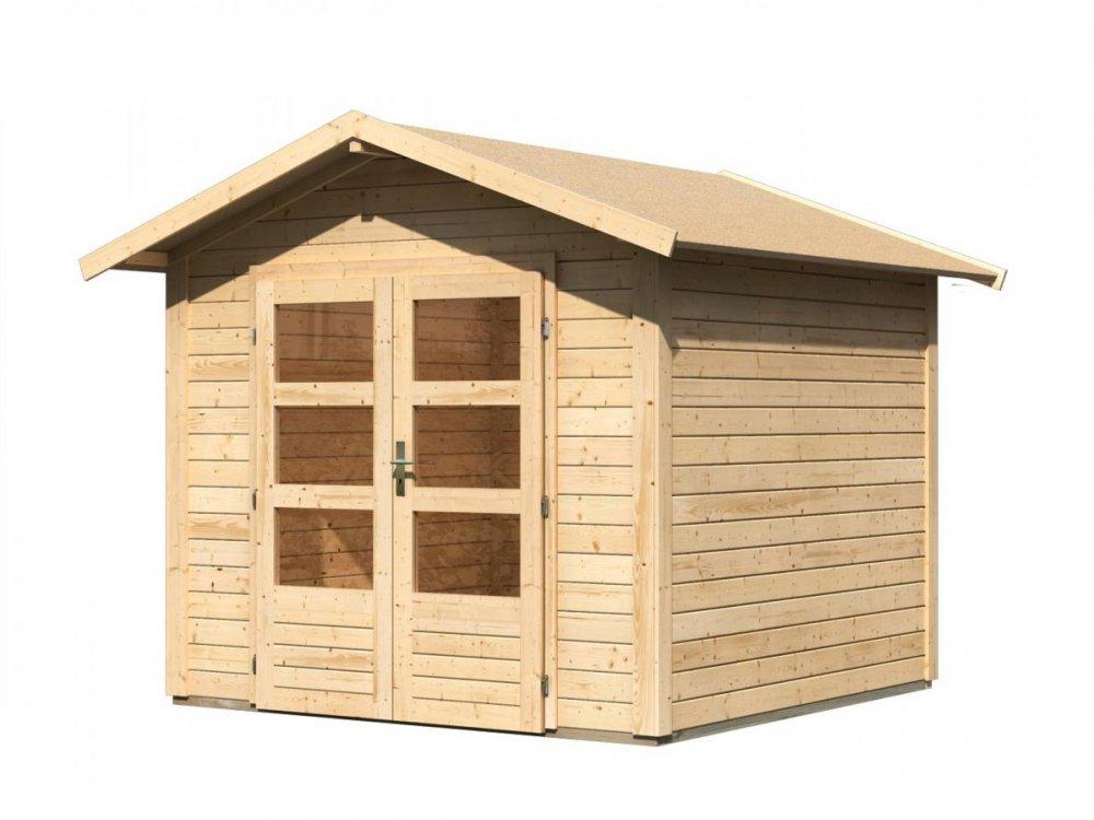 drevený domček KARIBU TALKAU 4 (83336) natur