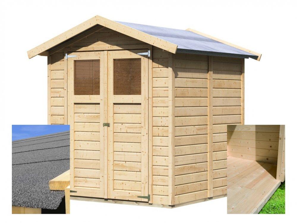 drevený domček KARIBU DAHME 3 (14437) SET