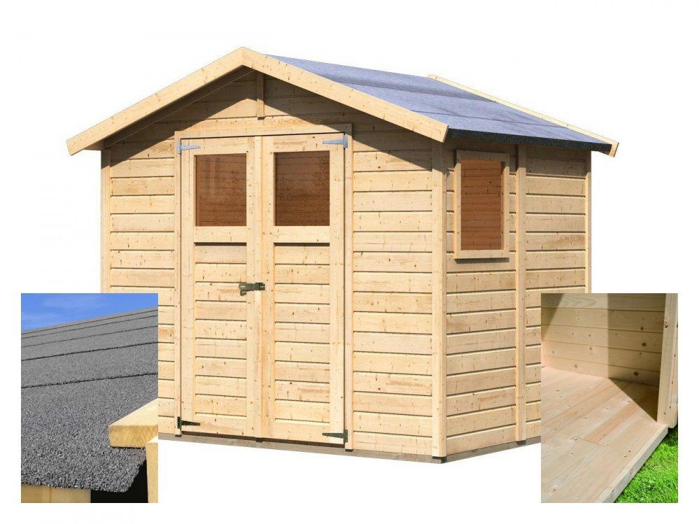 drevený domček KARIBU DALIN 1 (144438) SET