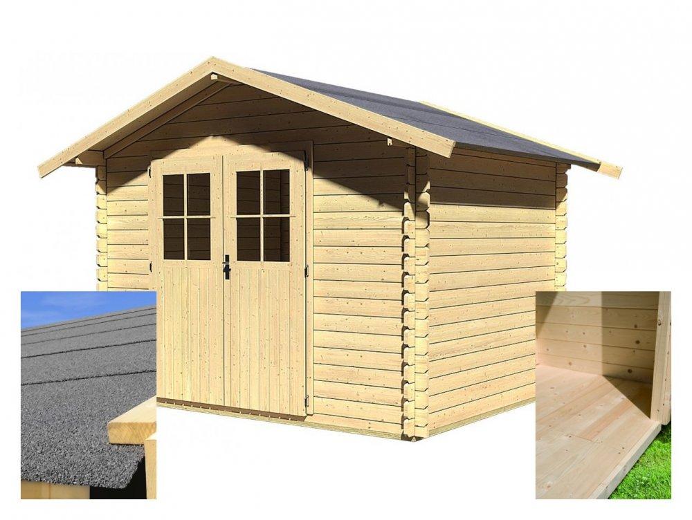 drevený domček KARIBU SEEFELD 5 (83136) SET