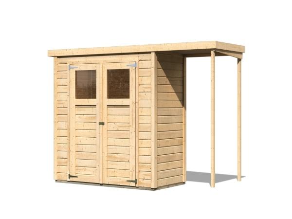drevený domček KARIBU DEVIN (23486) natur