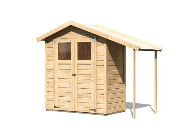 drevený domček KARIBU DANA (23485) natur