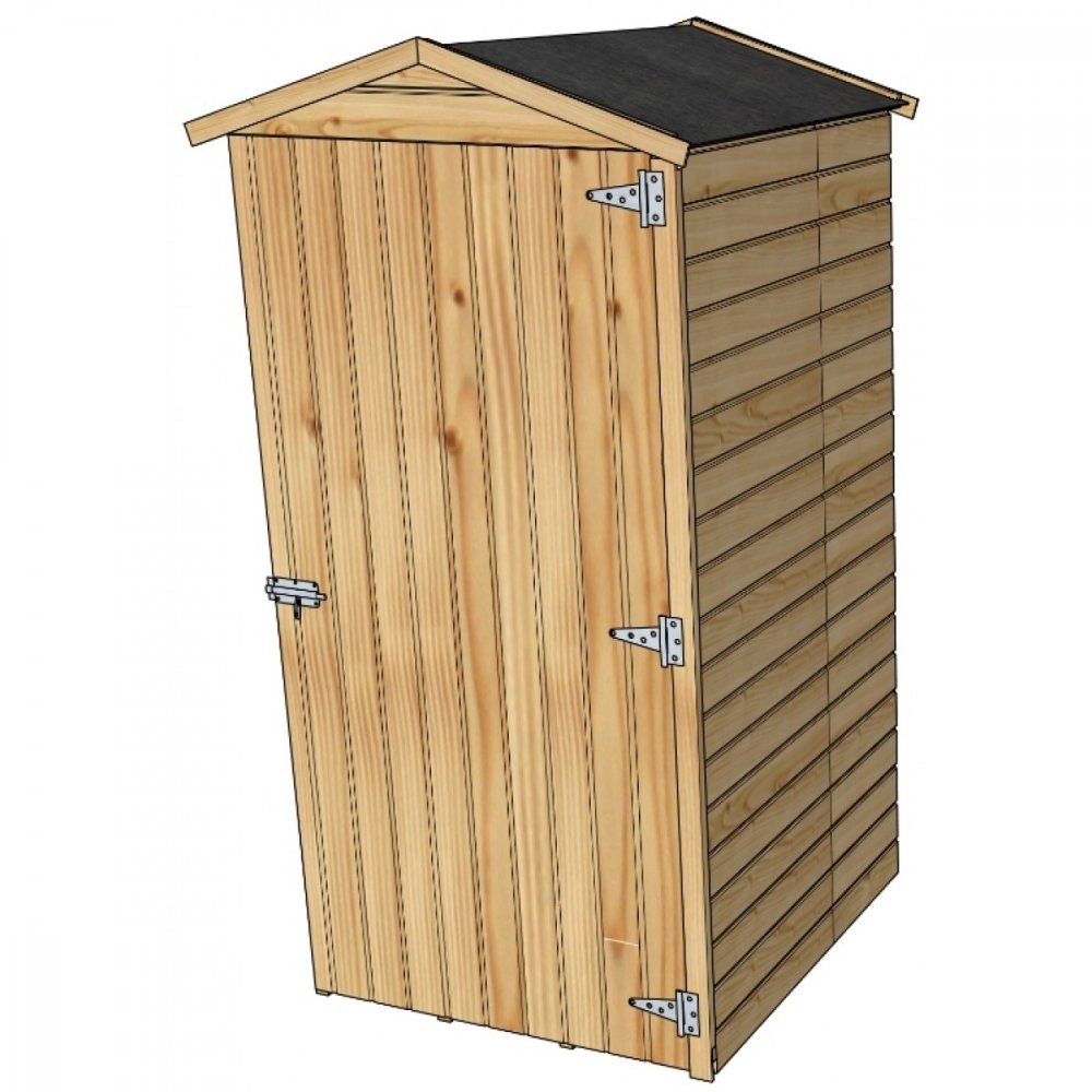 drevený domček SOLID ANITA 1 - 90 x 96 cm (S879-1)