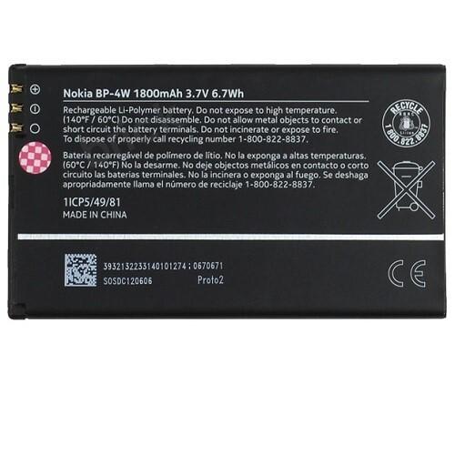 Originálna batéria Nokia Lumia 810 BP-4W 1800mAh, bulk