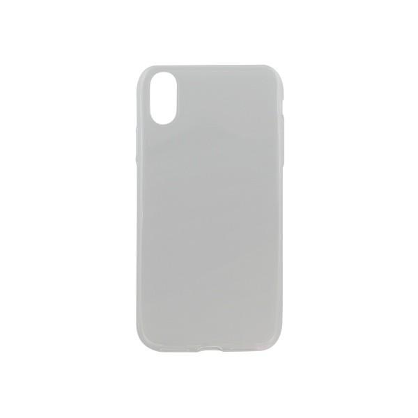 Silikónové puzdro iPhone XS priehľadné nelepivé