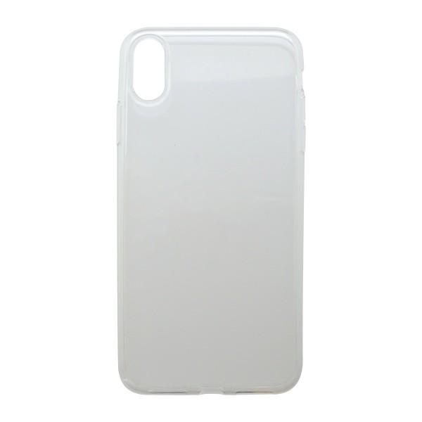 Silikónové puzdro iPhone XR priehľadné, nelepivé