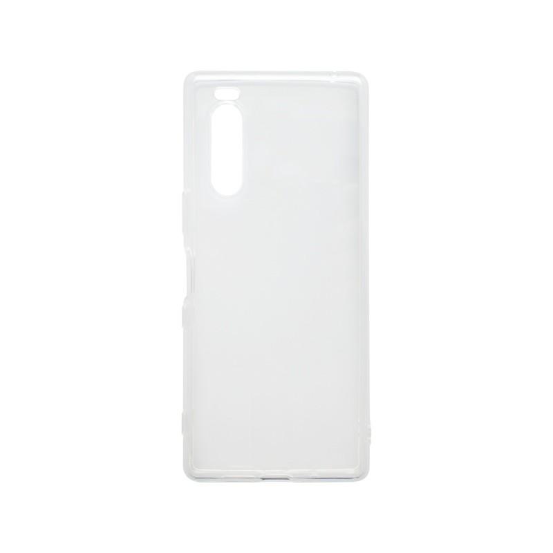 mobilNET silikónové puzdro Sony Xperia 5, transparentné, nelepivé