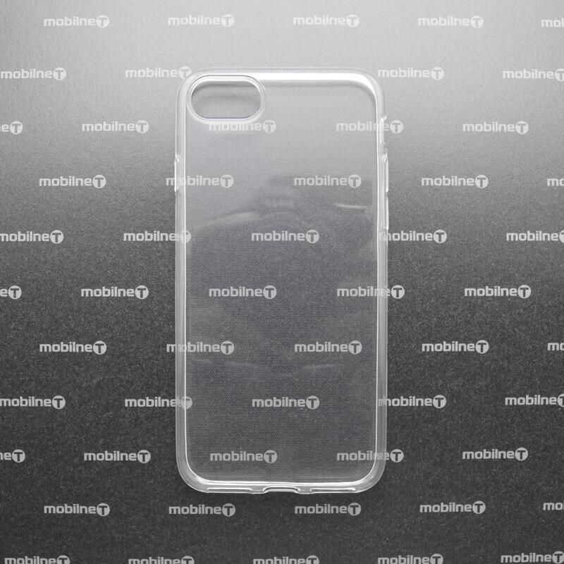 mobilNET iPhone SE 2020 priehľadné silikónové puzdro, nelepivé