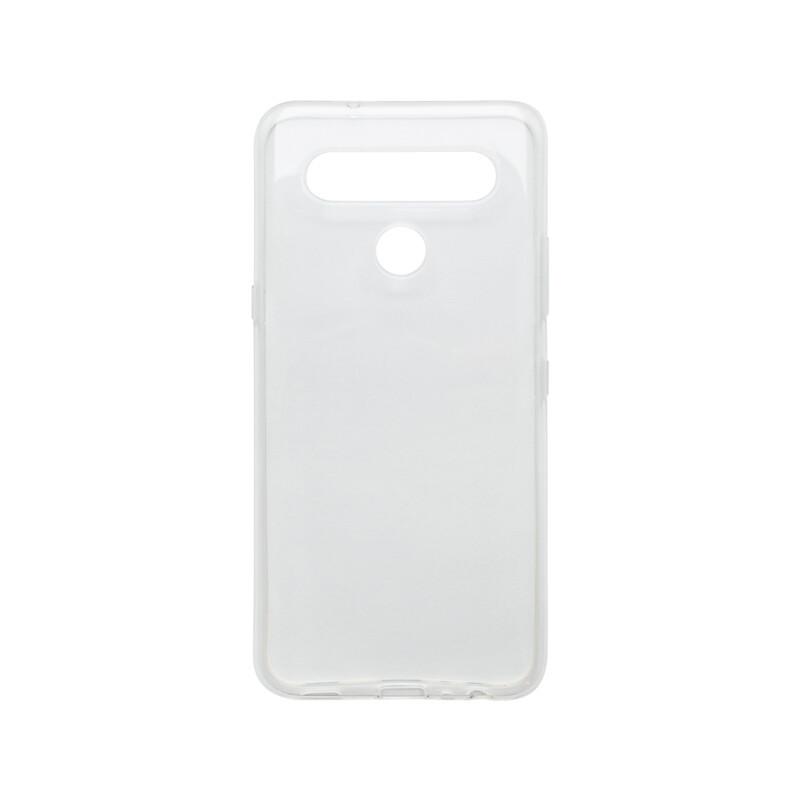 mobilNET LG K61 priehľadné silikónové puzdro, nelepivé