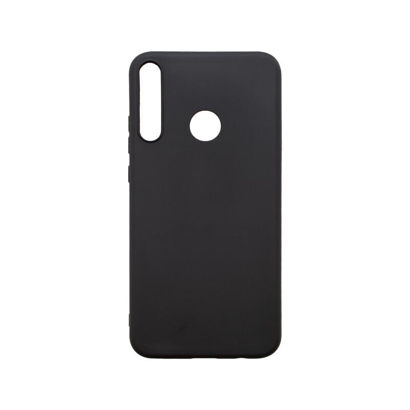 Huawei Y7P čierne gumené puzdro, matné