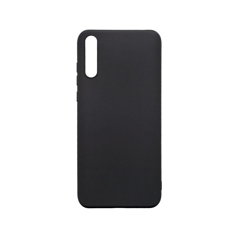 Huawei Y8P čierne gumené puzdro, matné