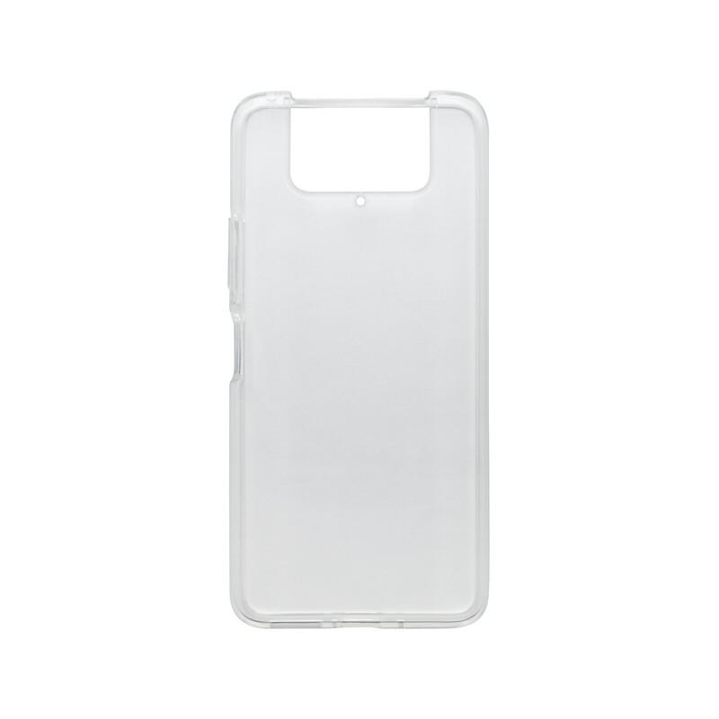 mobilNET silikónové puzdro Asus Zenfone 8 Flip, priehľadné, Moist 1.2mm