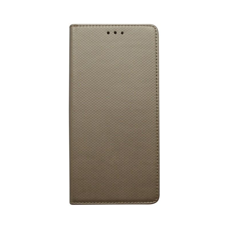 Knižkové puzdro Samsung Galaxy A70 zlaté, vzorované